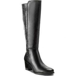 Kozaki CAPRICE - 9-25540-39 Black Comb 019. Różowe buty zimowe damskie marki Caprice, z materiału. W wyprzedaży za 359,00 zł.