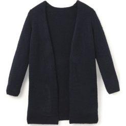 Długi kardigan 10-16 lat. Czarne swetry chłopięce La Redoute Collections, z dzianiny. Za 132,26 zł.