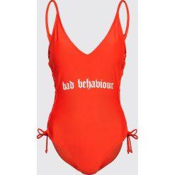 Stroje kąpielowe damskie: Jednoczęściowy strój z nadrukiem - Czerwony