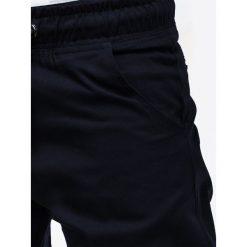 SPODNIE MĘSKIE JOGGERY P205 - GRANATOWE. Niebieskie joggery męskie Ombre Clothing, z materiału. Za 79,00 zł.