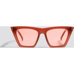 Okulary przeciwsłoneczne damskie aviatory: NA-KD Urban Okulary przeciwsłoneczne ostre kocie oczy - Red