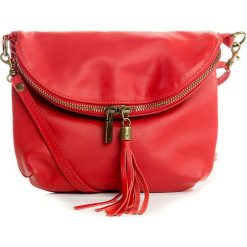 Torebki klasyczne damskie: Skórzana torebka w kolorze czerwonym – 24 x 18 x 4 cm