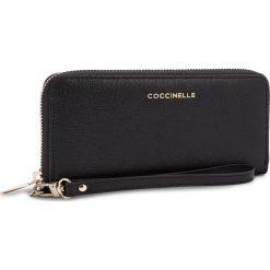 Duży Portfel Damski COCCINELLE - BW1 Metallic Saffiano E2 BW1 11 05 01 Noir 001. Czarne portfele damskie marki Coccinelle. W wyprzedaży za 419,00 zł.