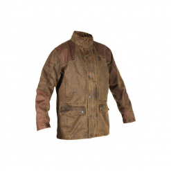 Kurtka myśliwska Fox Game. Brązowe kurtki męskie marki LIGNE VERNEY CARRON, m, z bawełny. Za 499,99 zł.