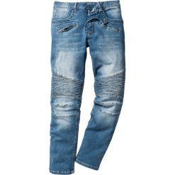 """Dżinsy ze stretchem Slim Fit Straight bonprix niebieski """"medium bleached used"""". Niebieskie jeansy męskie relaxed fit bonprix, z jeansu. Za 79,99 zł."""