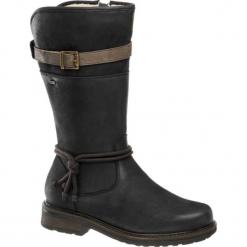 Kozaki damskie Highland Creek niebieskie. Czarne buty zimowe damskie marki Kazar, ze skóry, na wysokim obcasie. Za 279,90 zł.