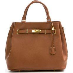 Torebki klasyczne damskie: Skórzana torebka w kolorze brązowym – 35 x 28 x 17 cm