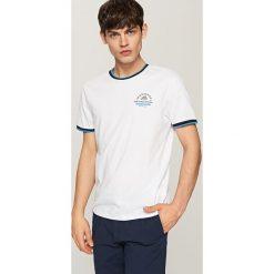 Koszulki męskie: T-shirt z ozdobnymi ściągaczami - Biały