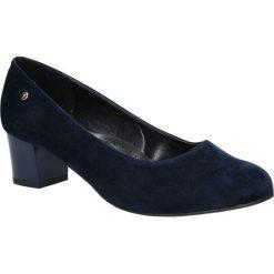 Granatowe czółenka na niskim obcasie Casu 3015. Czarne buty ślubne damskie marki Casu, na niskim obcasie. Za 78,99 zł.