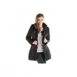 Kurtka damska zimowa, z zamkami z kieszeniami, rozpinana, pikowana, z odpinanym kapturem. Szare kurtki damskie TXM, na zimę. Za 59,99 zł.