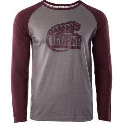 IGUANA Koszulka męska Themba brushed nickel melange/zinfandel r. S. Brązowe koszulki sportowe męskie marki IGUANA, s. Za 63,54 zł.