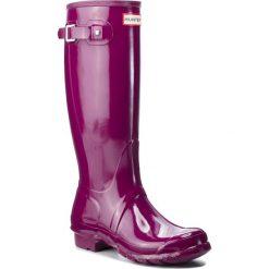 Kalosze HUNTER - Org Tall WFT1000RGL Violet. Fioletowe buty zimowe damskie Hunter, z kauczuku. W wyprzedaży za 409,00 zł.