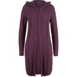 Długi sweter rozpinany z kapturem bonprix czarny bez. Szare kardigany damskie marki Mohito, l. Za 89,99 zł.