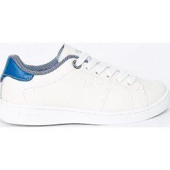 Pepe Jeans - Tenisówki dziecięce. Białe tenisówki męskie Pepe Jeans, z jeansu, na sznurówki. W wyprzedaży za 179,90 zł.