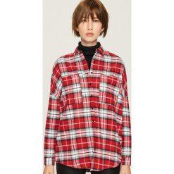 Bawełniana koszula w kratę - Wielobarwn. Różowe koszule damskie marki Sinsay, l, z bawełny. Za 69,99 zł.
