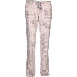 Spodnie piżamowe w kolorze szaro-różowym. Białe piżamy damskie marki LASCANA, w koronkowe wzory, z koronki. W wyprzedaży za 58,95 zł.