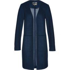 Płaszcze damskie: Płaszcz z domieszką wełny bonprix ciemnoniebiesko-dymny szary