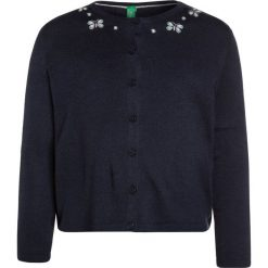 Swetry chłopięce: Benetton GIRL COREANA Kardigan dark blue