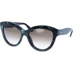 """Okulary przeciwsłoneczne damskie: Okulary przeciwsłoneczne """"V719SB"""" w kolorze granatowym ze wzorem"""