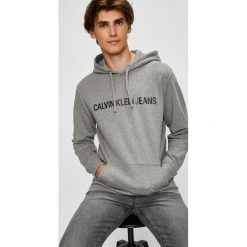 Calvin Klein Jeans - Bluza. Szare bluzy męskie rozpinane marki TARMAK, m, z bawełny, z kapturem. Za 399,90 zł.
