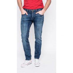 Review - Jeansy Simon. Niebieskie jeansy męskie slim Review. W wyprzedaży za 169,90 zł.