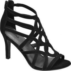 Rzymianki damskie: sandalki na obcasie Catwalk czarne