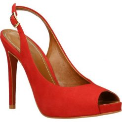 Sandały YAMAYA. Czerwone sandały trekkingowe damskie Gino Rossi, z nubiku, na wysokim obcasie, na obcasie. Za 279,90 zł.