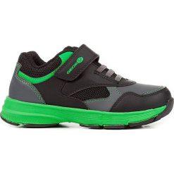 """Sneakersy """"Hoshiko"""" w kolorze czarno-zielonym. Niebieskie trampki chłopięce marki geox kids, z gumy. W wyprzedaży za 117,95 zł."""