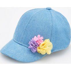 Jeansowa czapka z daszkiem - Niebieski. Niebieskie czapki damskie Reserved, z jeansu. W wyprzedaży za 19,99 zł.