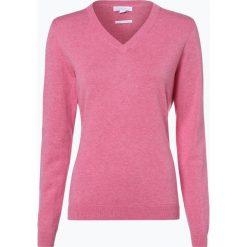 Brookshire - Sweter damski, różowy. Czarne swetry klasyczne damskie marki brookshire, m, w paski, z dżerseju. Za 129,95 zł.