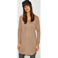 Noisy May - Sukienka Senza. Brązowe sukienki dzianinowe Noisy May, na co dzień, l, casualowe, mini, proste. Za 119,90 zł.