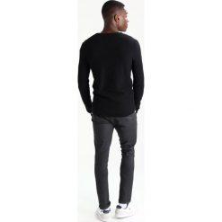 Swetry klasyczne męskie: TOM TAILOR DENIM STRUCTURED CREWNECK Sweter black