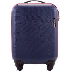 Walizka kabinowa 56-3A-610-90. Niebieskie walizki marki Wittchen, z gumy, małe. Za 219,00 zł.