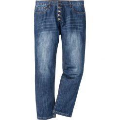 Jeansy męskie regular: Dżinsy z widocznymi guzikami rozporka Regular Fit Straight bonprix niebieski