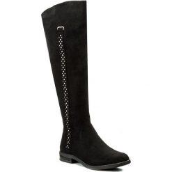 Kozaki JENNY FAIRY - LS3523-16 Czarny. Czarne buty zimowe damskie marki Kazar, ze skóry, na wysokim obcasie. W wyprzedaży za 104,99 zł.