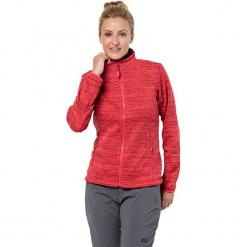 """Kurtka polarowa """"Aquila"""" w kolorze czerwonym. Czarne kurtki damskie marki Jack Wolfskin, w paski, z materiału. W wyprzedaży za 230,95 zł."""