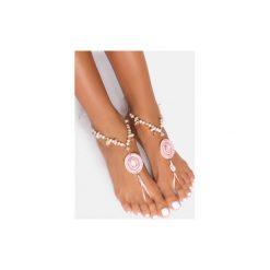 Bransoletki damskie: Różowa bransoletka na stopę Lucky Charm