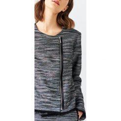 Simple - Żakiet. Szare spódnice wieczorowe marki Simple, z materiału. W wyprzedaży za 259,90 zł.