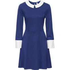 Sukienki hiszpanki: Sukienka bonprix kobaltowo-biały