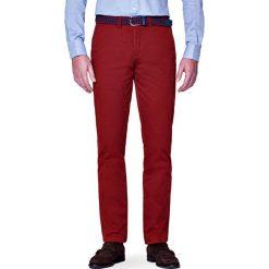 Spodnie Chino Pedro Rudy. Brązowe chinosy męskie marki LANCERTO, z bawełny. W wyprzedaży za 149,90 zł.