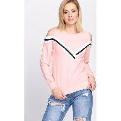 Bluzy rozpinane damskie: Różowa Bluza Forever Free