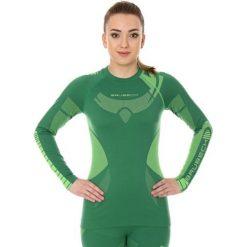 Bluzy damskie: Brubeck Bluza damska DRY z długim rękawem zielona r. S (LS13070)