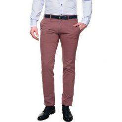Spodnie hollow 214 bordo slim fit. Brązowe rurki męskie Recman. Za 129,99 zł.