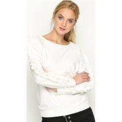 Bluzy damskie: Biała Bluza Fancy Sleeves