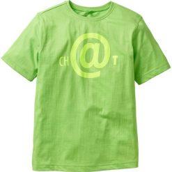 Koszulka bonprix jaskrawy zielony. Zielone t-shirty chłopięce z nadrukiem bonprix. Za 22,99 zł.