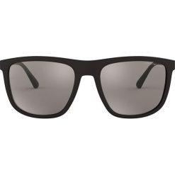 Emporio Armani - Okulary 0EA4124. Szare okulary przeciwsłoneczne męskie marki Emporio Armani, l, z nadrukiem, z bawełny, z okrągłym kołnierzem. Za 519,90 zł.