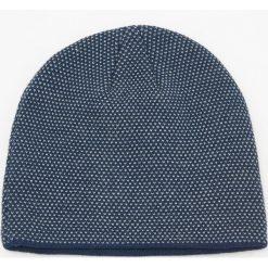 Czapka - Granatowy. Niebieskie czapki męskie marki Reserved. Za 49,99 zł.