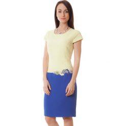 Sukienki hiszpanki: Sukienka w kolorze żółto-niebieskim