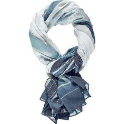 Szaliki damskie: Szal w kolorze biało-niebieskim – 200 x 130 cm
