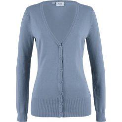 Swetry rozpinane damskie: Sweter rozpinany bonprix matowy niebieski